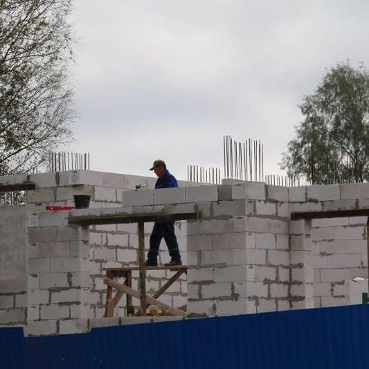 фото с хода работ по новостройке Дубровка на Неве